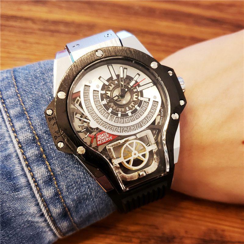 ddef8d308cc081 Neue Top Luxusmode Alle Subdials Arbeit Männer Quarzwerk Uhr Sport Herren  Selbst Wind Uhren Geneve Armbanduhr