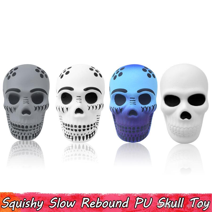 Großhandel Punk Skull Squishy Spielzeug Langsam Steigenden Squishies ...
