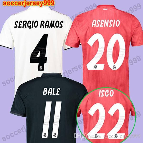 2019 Real Madrid Jerseys 2018 2019 Soccer Jersey 18 19 VINICIUS JR ISCO  BALE KROOS ASENSIO MODRIC Football Shirt Uniforms Camiseta De Fútbol From  ... 7d6c632c9