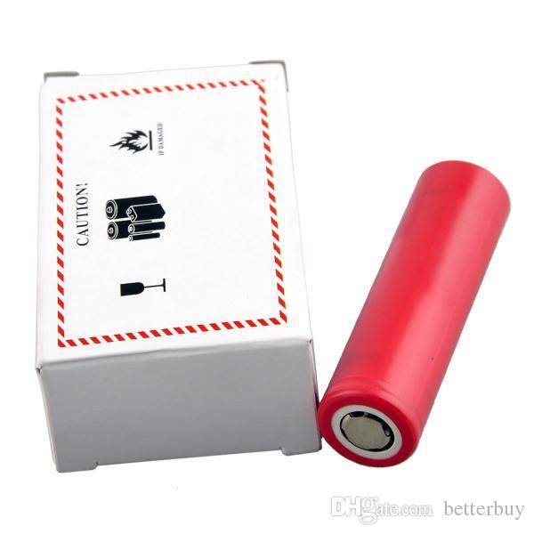 100% High Quality INR 25R LG HG2 HE2 HE4 18650 Battery 2500mAh 3000mAh 3.7V 35A Samsung E Cig Rechargable Lithium Batteries Cell