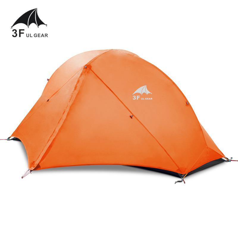 3F Piaoyun1 lightweight double layer tents 15D nylon silicon outdoor  barraca Ultralight rainproof wind-resistant camping tent