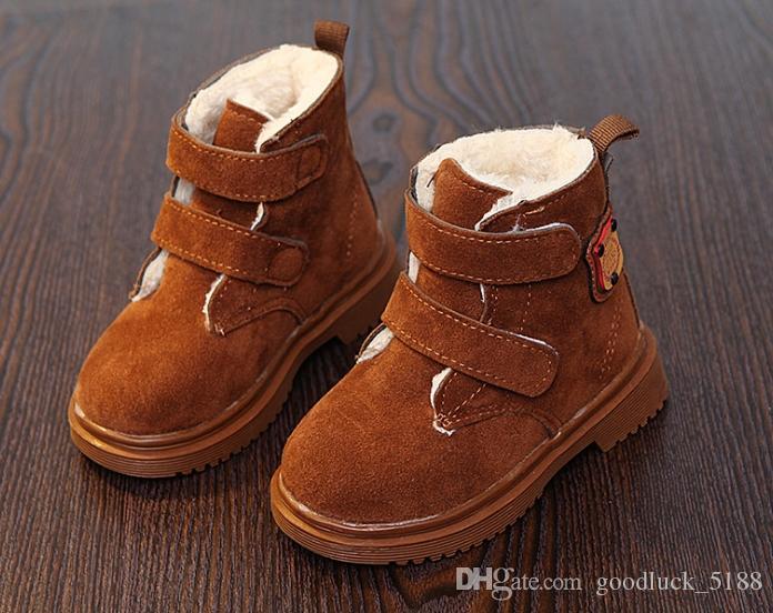 904384052 Compre Niñas Martin Botas 2018 Invierno Más Terciopelo Zapatos Nuevos Niños  Versión Coreana Del Viento Británico Engrosamiento Botas Cortas Para Niños  ...