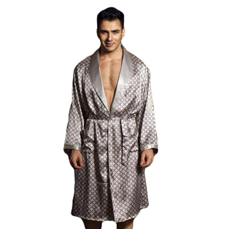2019 2017 Summer Pyjama Homme Robe Sexy Bathrobe Men Dressing Gown