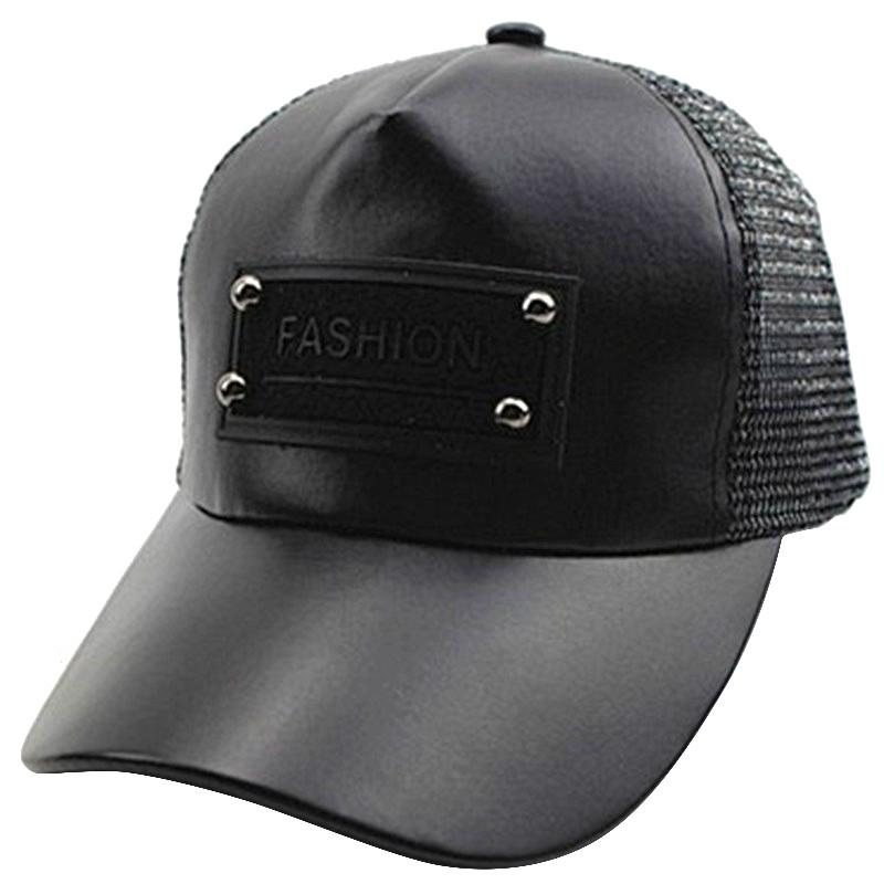 c486b84babf Pu Leather Ticker Boys Girls Children Kids Baseball Caps Children Mesh Caps  Summer Hats Outdoor 47 52cm Adjustable Mesh Hats Superman Cap From  Cfyh2018