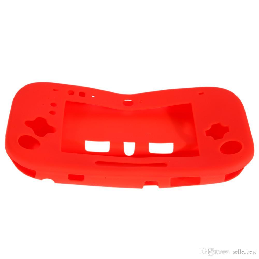 Sıcak Satış Silikon Silikon Kılıf Kapak Cilt Koruyucu Nintendo Wii U GamePad Denetleyici