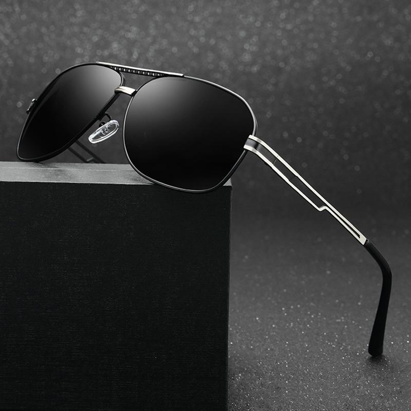 6724ffc46c3 Men s Classic Polarized Sunglasses 2018 Brand Fashion Black Mirror  Sunglasses Men Trend Metal Frame Driving Eyewear Blue Glasses Glasses  Online Polarized ...