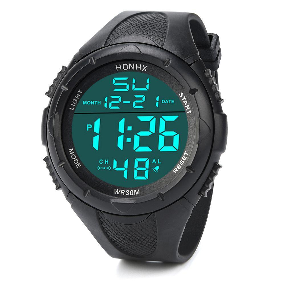 b75157606ac HONHX Men S LED Digital Alarm Sport Watch
