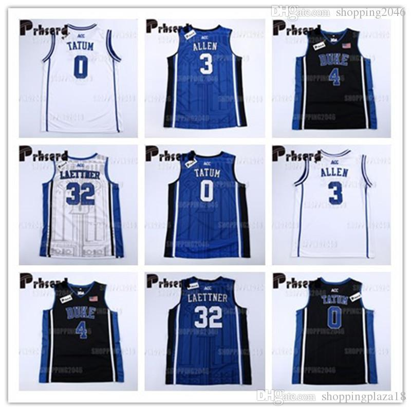 new products ee60c 25d0b NCAA Duke Men's 3 Grayson Allen 0 Jayson Tatum 32 Christian Laettner 4 JJ  Reddick 1 kyrie Irving College Basketball Jerseys