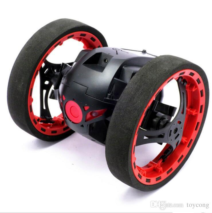 RC Car Bounce Car PEG SJ88 2.4G Remote Control Toys Jumping with Flexible Wheels Rotation LED Night Lights RC Robot gift wholesale .