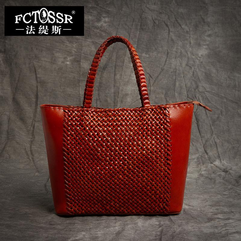 c4639d6d4c 2018 Latest Studded Handbag Women Shell Totes Top Handle Handmade Woven  Leather Luxury Big Bags Portable Ladies Hand Bags Designer Handbags Totes  From ...