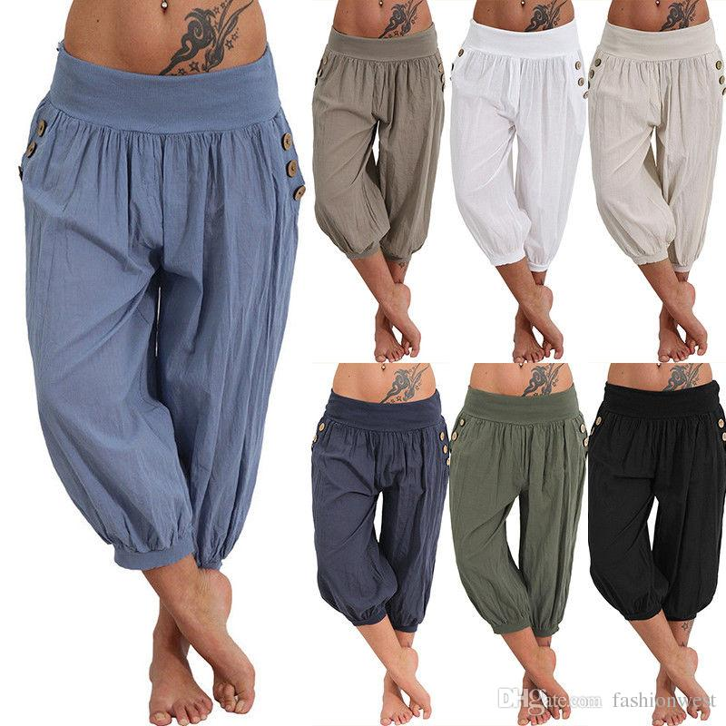 9e7df8938b97d 2019 Womens Palazzo Harem 3 4 Pants Leggings Baggy Aladdin Boho Hippy  Trousers 6 24 From Fashionwest