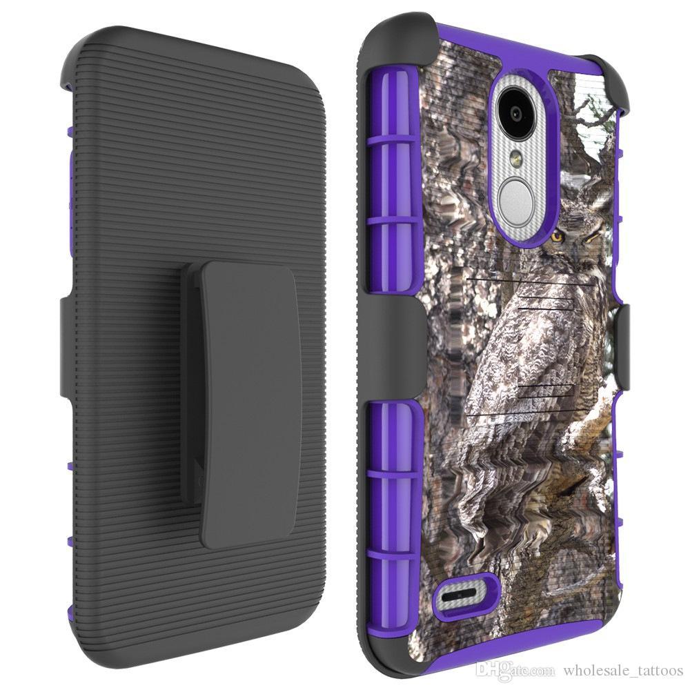 S9 Camuflaje 3 en 1 Armor Case para Samsung Glaxy S9 / S9 Plus Funda de silicona para teléfono duro con clip de cinturón Holster Factory Low Price