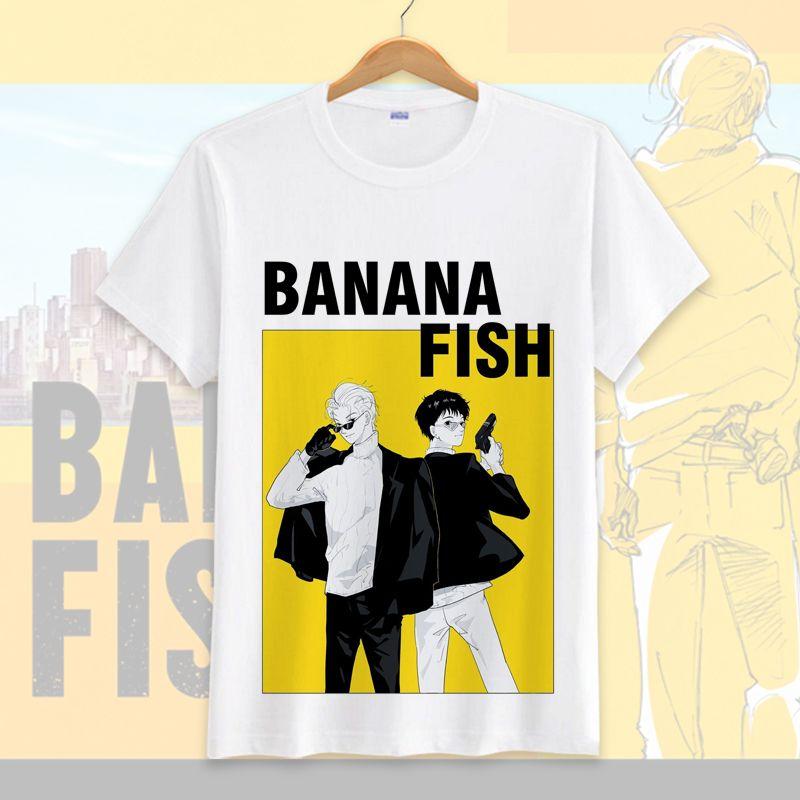 De Cosplay Manga Venta Mujeres O Cuello Hombres Tops Traje Caliente Anime 2018 Fish Camiseta Summer Para Corta Banana nwOPk80XN