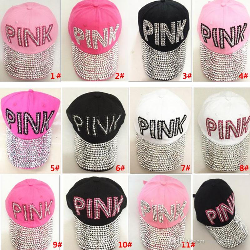 bd359812617c1 Compre Diamantes De Lentejuelas Party Sombreros Pink Point Palabra De  Béisbol Sombreros De Gorra De Vaquero Para Mujeres Adultas Hombres Regalos  De Navidad ...