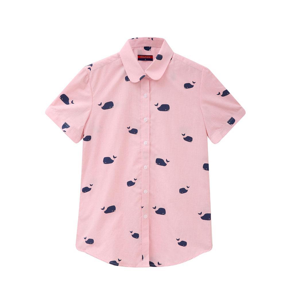 Manga corta Blusas de las mujeres 2017 Floral Camisa Cereza Mujeres Tops y Blusas Verano Casual Camisas de Playa de Bohemia Tallas grandes Tops