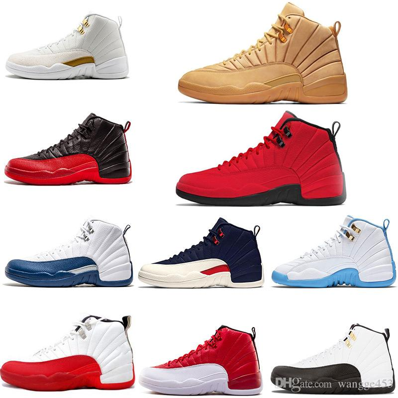 4a560ad4282f19 Cheap New Men Basketball Shoes 12 12s Michigan College Navy Bulls White Gym  Red Flu Game Taxi Playoff Black Blue Sport Sneaker Trainer Sneakers For Men  ...