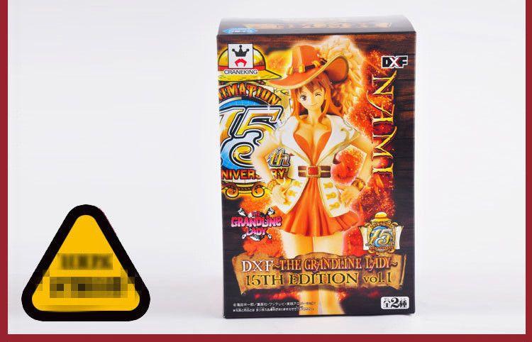 18cm Anime cartoon One Piece Nami Figure Grandline Lady 15th Anniversary Sexy PVC Action Figure Model Toys Doll kids gift