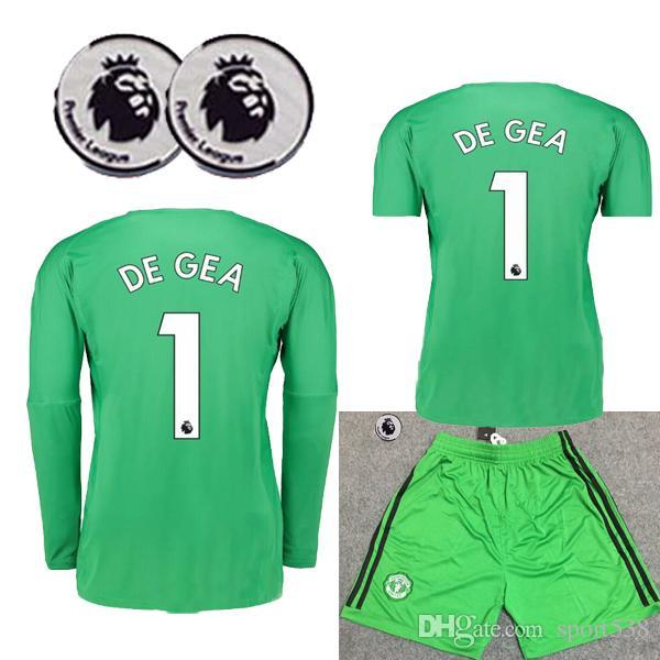 19ce5d6007 Compre 2018 2019   1 De Gea Manga Longa Goleiro Kit Adulto 18 19 Manchester  Mangas Curtas Verde Kit De Futebol Camisas De Futebol Romero United De  Sport538