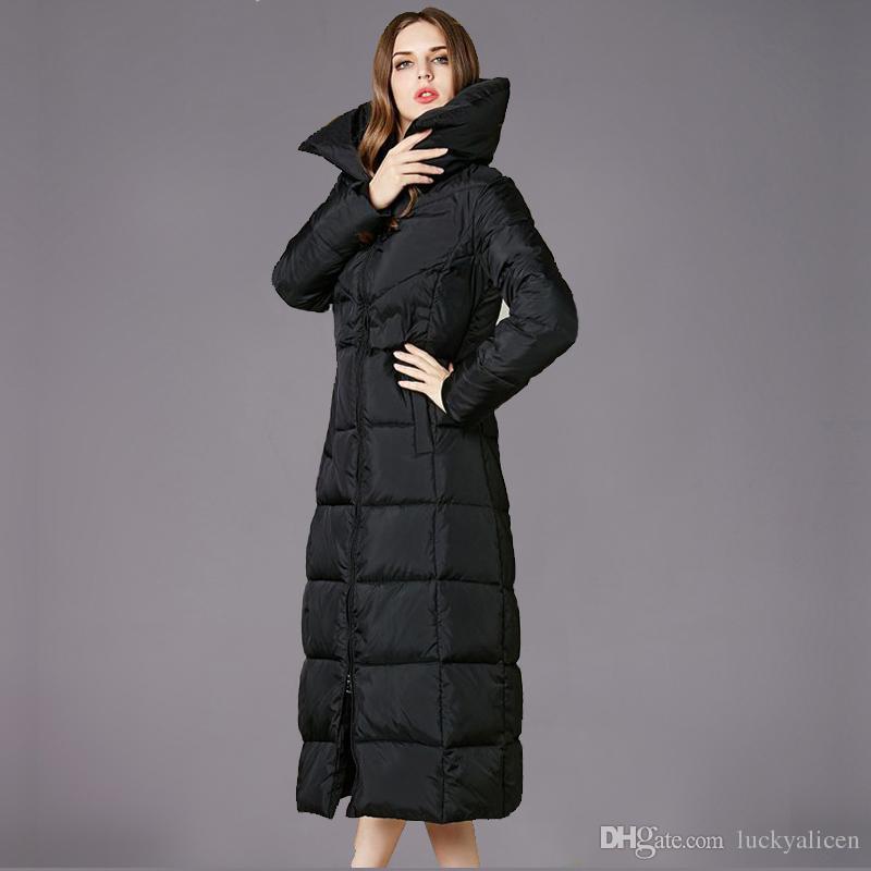 9b000f2769b1 2018 Winter European Fashion High Quality Duck Down Parka Women X ...