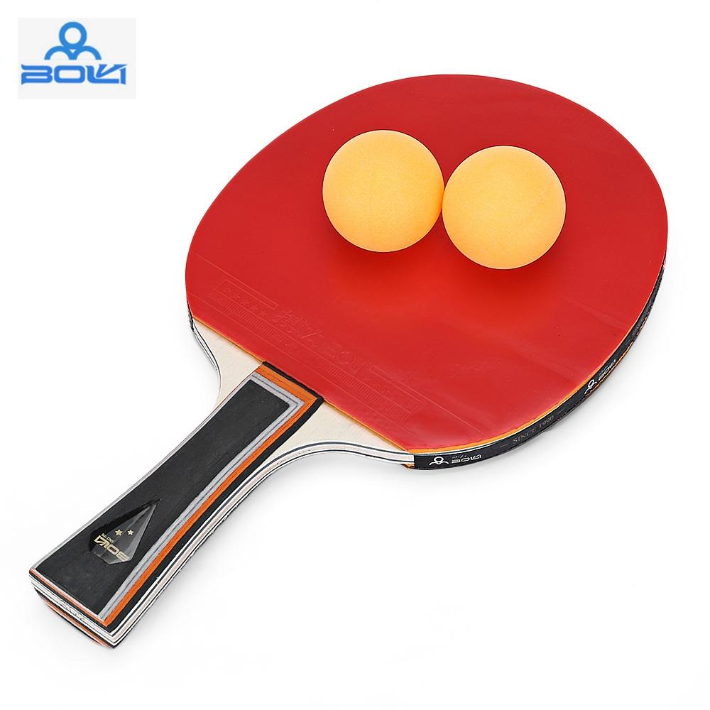 16da9f93f Compre BOLI Espinhas Em Ping Pong Raquete De Tênis De Mesa Conjunto De Dois  Bastões De Borracha Horizontal Aperto Em Linha Reta Raquete De Tênis De Mesa  Com ...