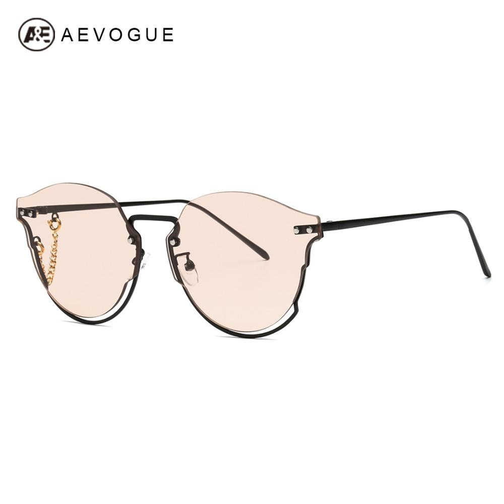 75a96b657c Wholesale Sunglasses Women Cat Eye Alloy Half Frame Chain Decoration Brand  Designer Gradient Lens Sun Glasses UV400 AE0591 Online with  31.29 Piece on  ...