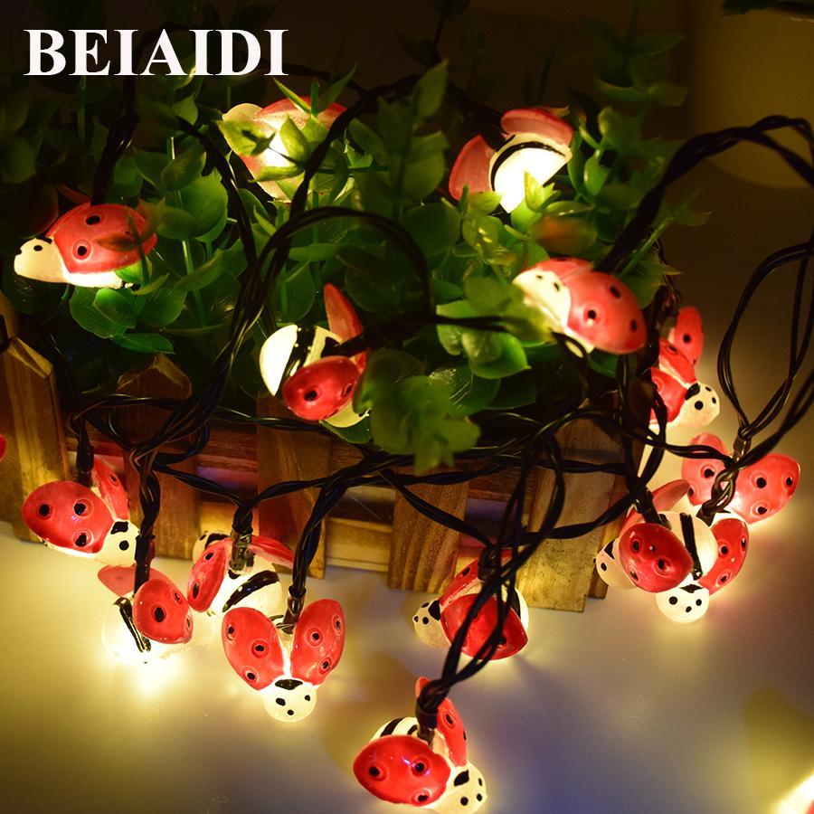 Beiaidi Led Waterproof Bee Ladybug Solar String Light Jpg 900x900 Ladybug  Solar Garden Lights