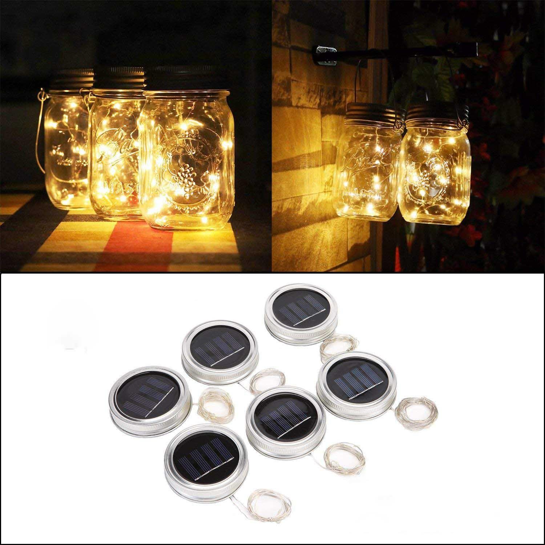 Solar Mason Jar Lights Led Warm White Solar Jar Lights