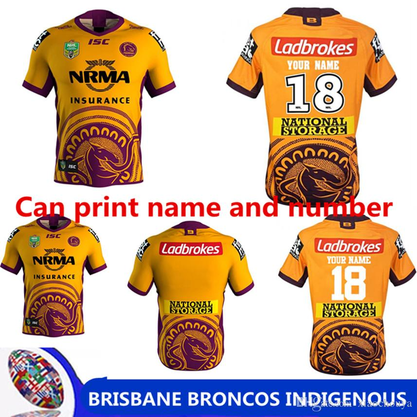 2019 BRISBANE BRONCOS 2018 INDIGENOUS JERSEY NRL National Rugby League  Brisbane Home Rugby Jersey Broncos Shirts Size S 3XL Can Print From  Xiaochouya 4773ad958