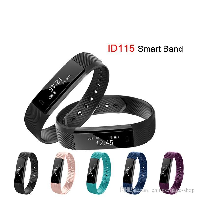 ID115 Bracelet Intelligent Sport Bracelet Fitness Tracker Montre Réveil Étape Compteur Intelligent Bracelet Bande Sport Smartband /