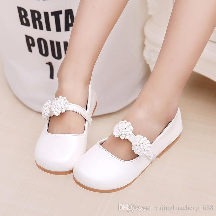 Hot Baby Children Shoes For Girls Princess Lovely flowers Fashion Kids Leather Dress Shoes For Girls Size Eu26-36