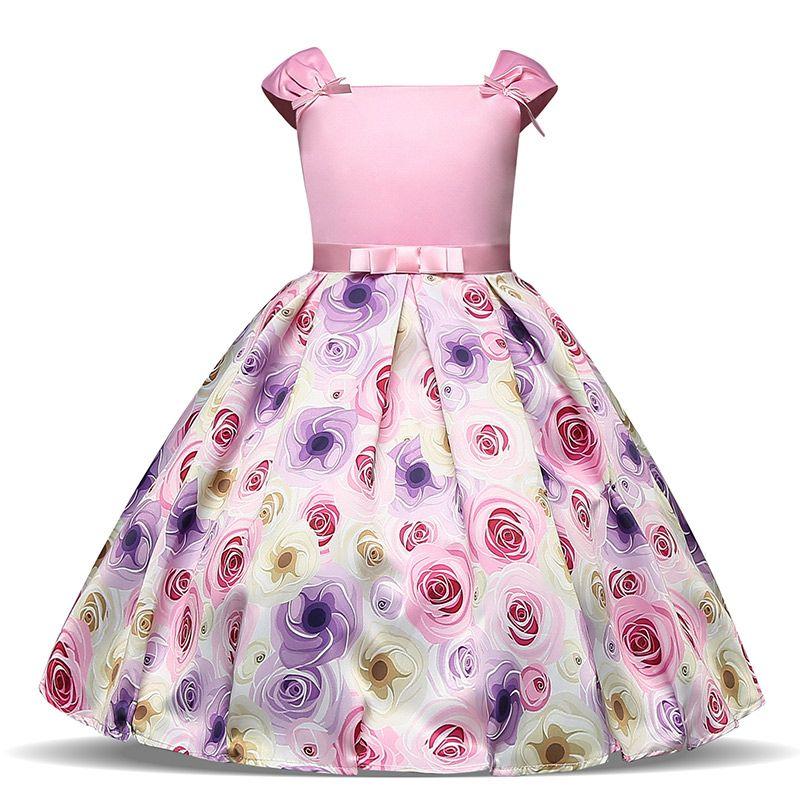 c8839ee51 Nuevo vestido floral para niñas Cumpleaños y boda Fiesta infantil Vestido  de gala Vestido de niña de flores Ropa de niños Vestidos de flores para ...