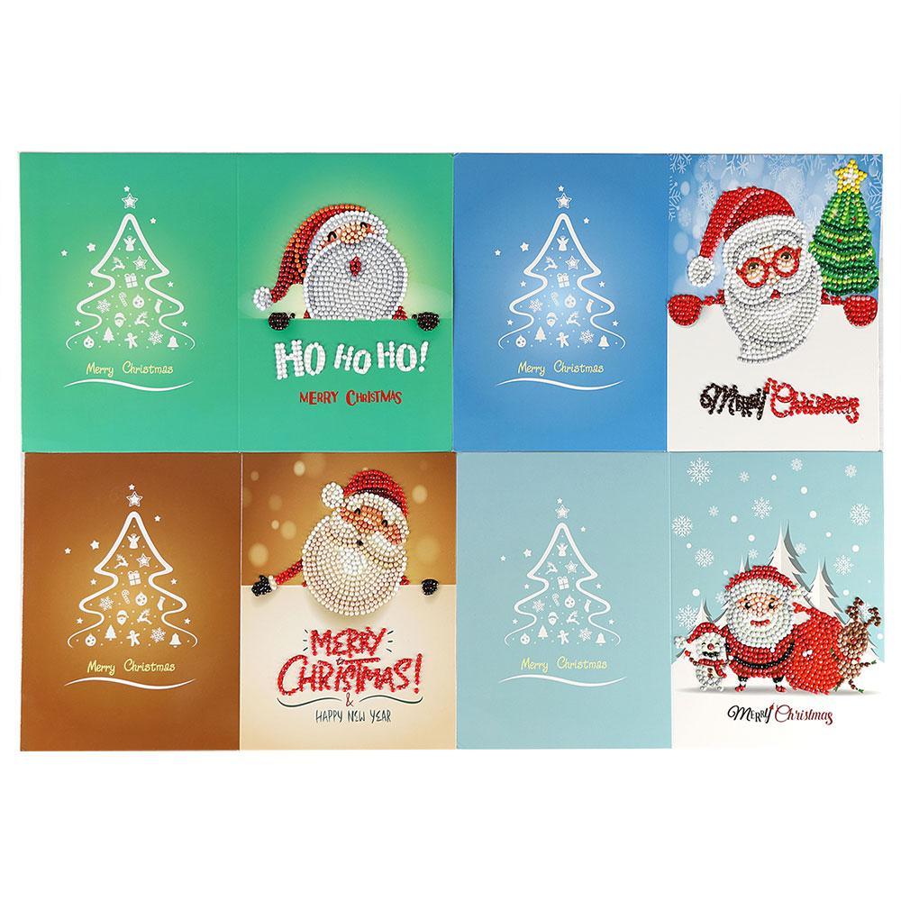 Regali Di Natale Di Carta.Anno Nuovo 8pcs Set Regali Di Natale Regali Presenti Babbo Natale Di Auguri Di Auguri Carta Di Carta Decor Festivla Benedizione Carte Papercraft