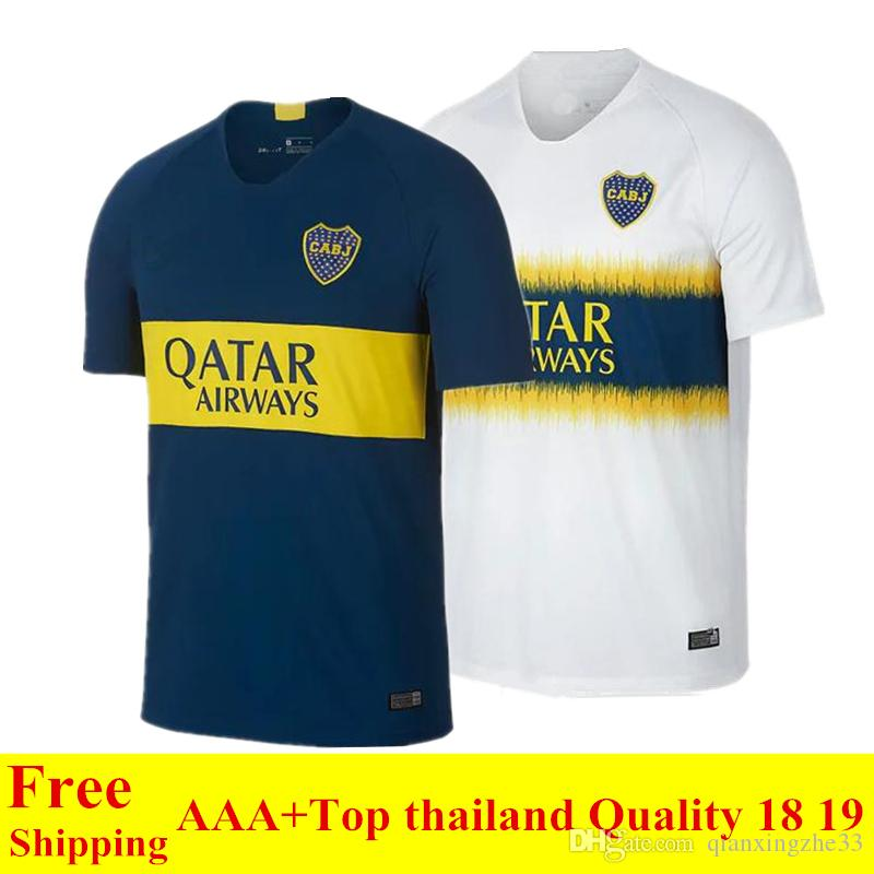d40ab13a1 2019 2018 2019 Top Thailand Quality Boca Juniors Jersey Home Away 18 19  Boca Juniors Soccer Jersey OSVALDO CARLITOS PEREZ P GAGO Football Jersey  From ...