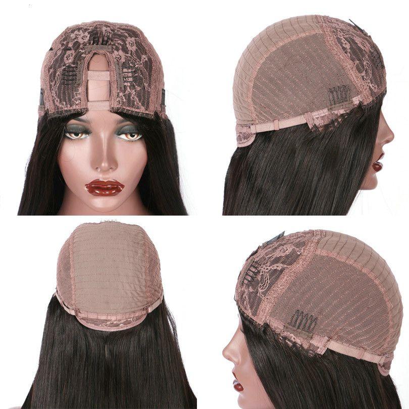 Parrucche dei capelli umani di parte U della parte centrale dell'onda del corpo dei capelli vergini le donne nere Capelli brasiliani di Remy 10-22 pollici parrucche del pizzo