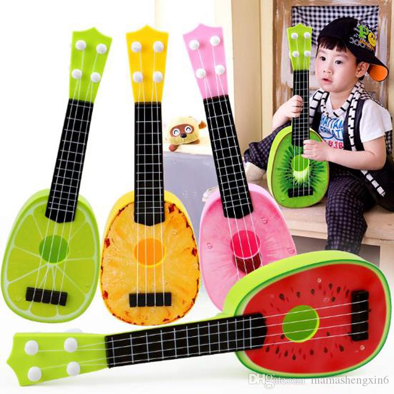 New Children Kids Fruit Ukulele Small Guitar Musical Instrument Toy Simulation Four Strings Guitar Instrument Play Toys Gift