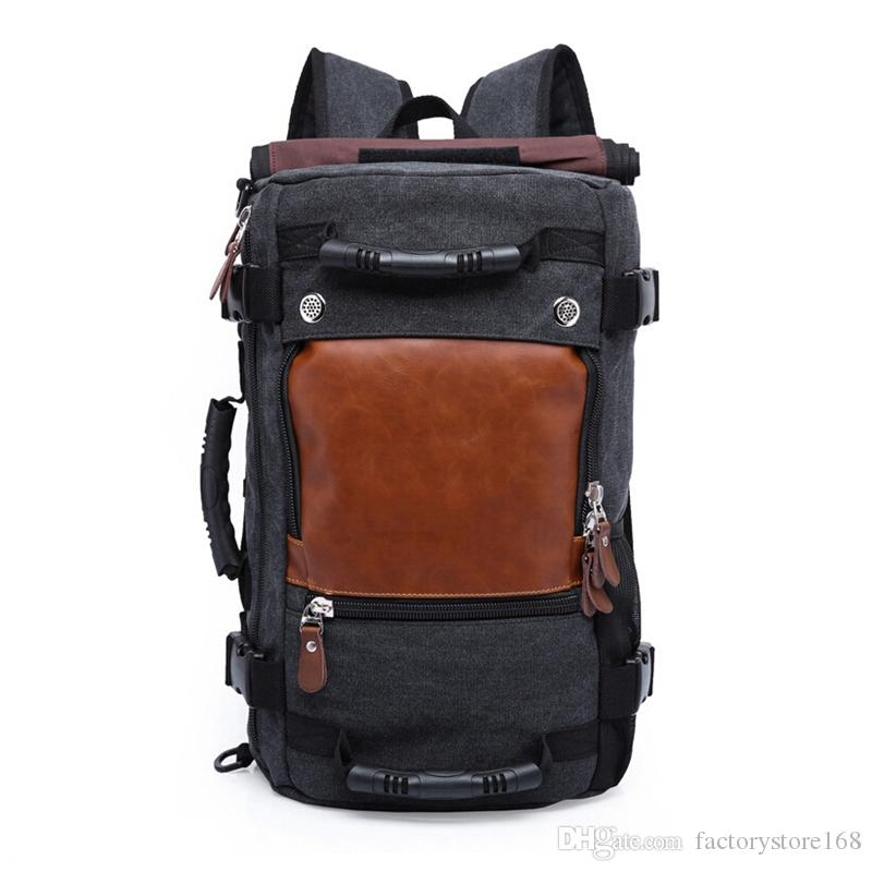 74f96c19bf Large Double Shoulder Travel Bags Canvas Backpack Luggage Bags Best Travel  Bags For Men Wholesale And Retail Overnight Bags For Women Briefcases For  Men ...