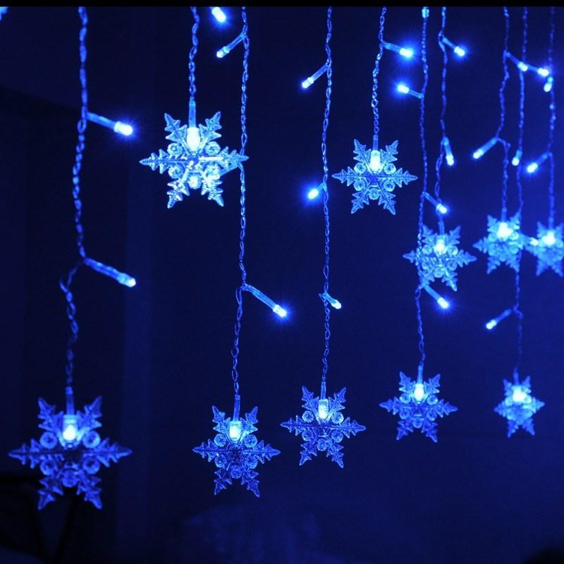 Snowflake Christmas Lights.Mrosaa 3 8m Led Curtain Snowflake String Lights Led Fairy Lights 8 Modes Christmas Lights Wedding Party Trees Decoration