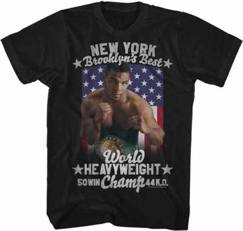 23f5e9ceb Compre Mike Tyson Los 50 Mejores Triunfos De New York Brooklyn 44 K.O.  Camiseta De Adultos De Boxeo A  11.78 Del Banwanyue9