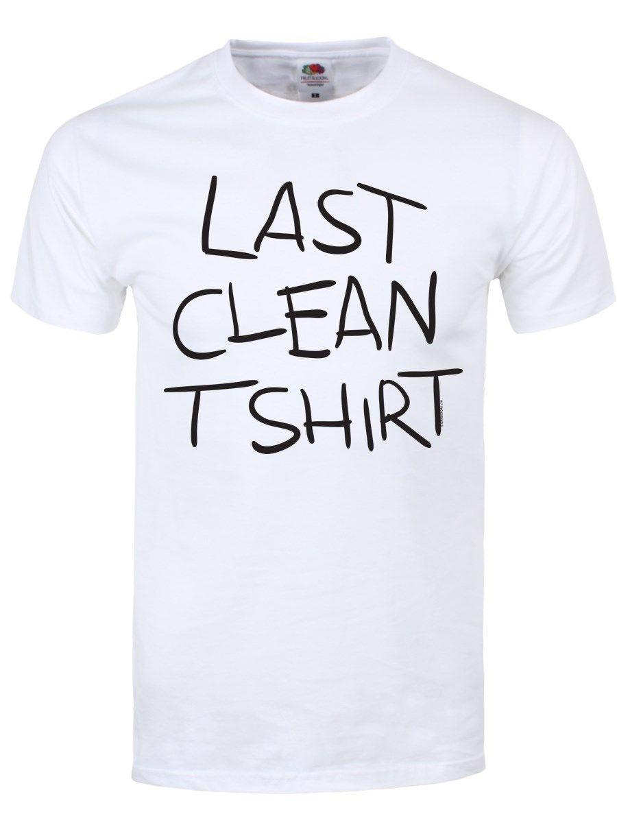 b9f280d55 Summer Hot Sale New Last Clean Tee Men's White T-shirt Men 2018 New ...