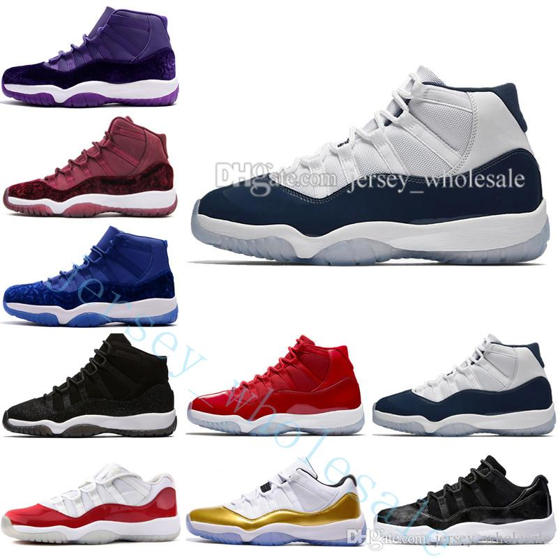 54edd9f76a8f59 2019 Cheap 11 11s Space Jam 45 Bred Concord Men Basketball Shoes Men Gym  Red Midnight Navy Gamma Blue 72 10 PRM Heiress Black Stingray Sneakers From  ...