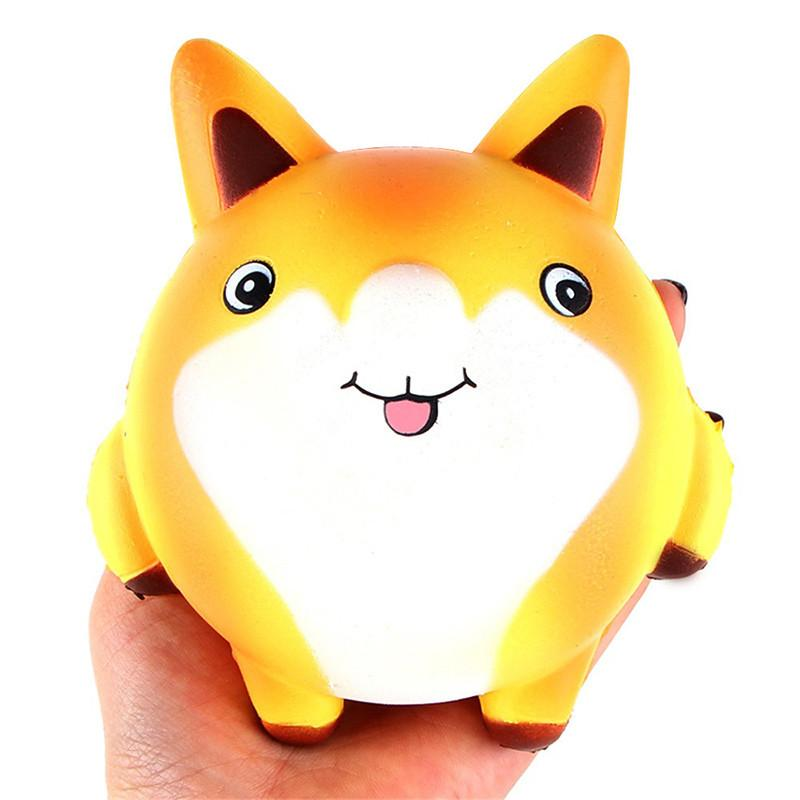 Squishy Cartoon Cute Fox Scented Cream Slow Rising Squeeze Decompression Toys For Children Adults Relieves Stress Anxiety Decor