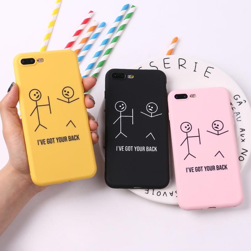 new style 482d3 a610b For iPhone 8 8Plus X 7 7Plus Stick Figure Memes Cool Quote Funny Words Soft  TPU Silicone Matte Case For iPhone 6 6S 5