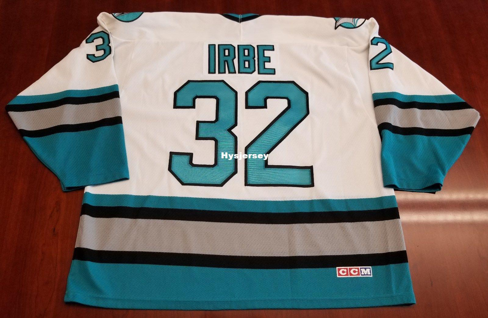 6182a255609 2019 Cheap Arturs Irbe San Jose Sharks Vintage CCM Cheap Hockey Jersey  White Mens Retro Jerseys From Hysjersey, $24.53   DHgate.Com