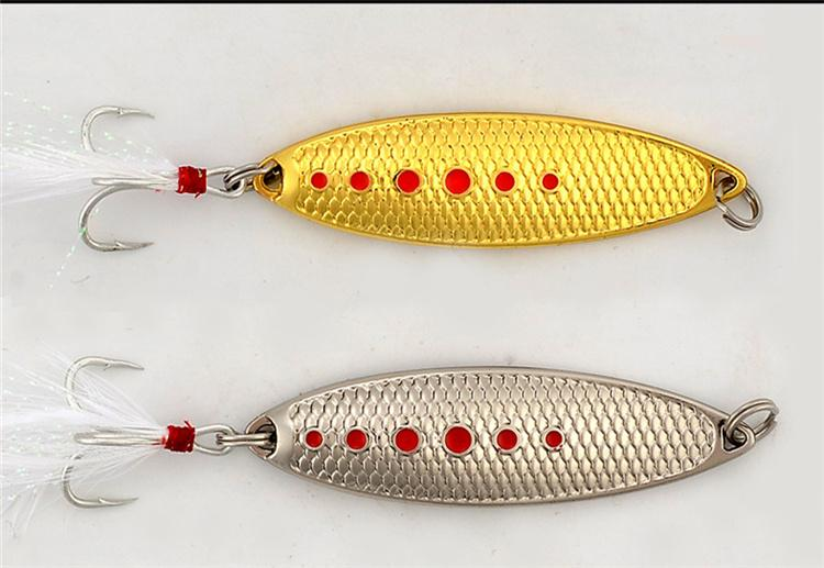 NEW Leech Scales Laser Metal Jigs Bait 5g 7g 10g 15g 20g Willow leaf Atificial Spinnerbaits Freshwater Fishing lure