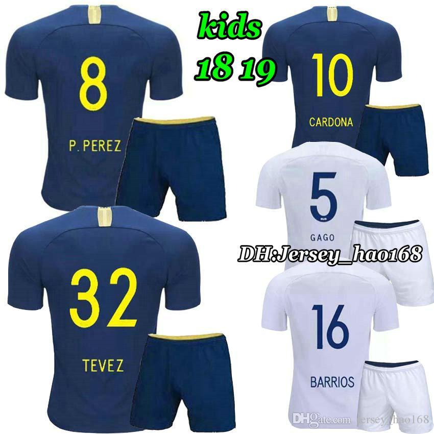 Compre 2018 2019 Boca Juniors Kits Para Niños Camisetas De Fútbol GAGO  CARLITOS HOME AWAY Camisetas De Camiseta De Fútbol Boca Junior 18 19 Niño  NIÑOS A ... 20b6e2f5e3c3f