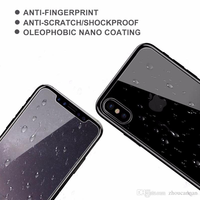 Front and Back Clear Tempered Glass for iPhone XS Max XR XS 8 7 Plus Screen Protector Protective Film Transparent Cover