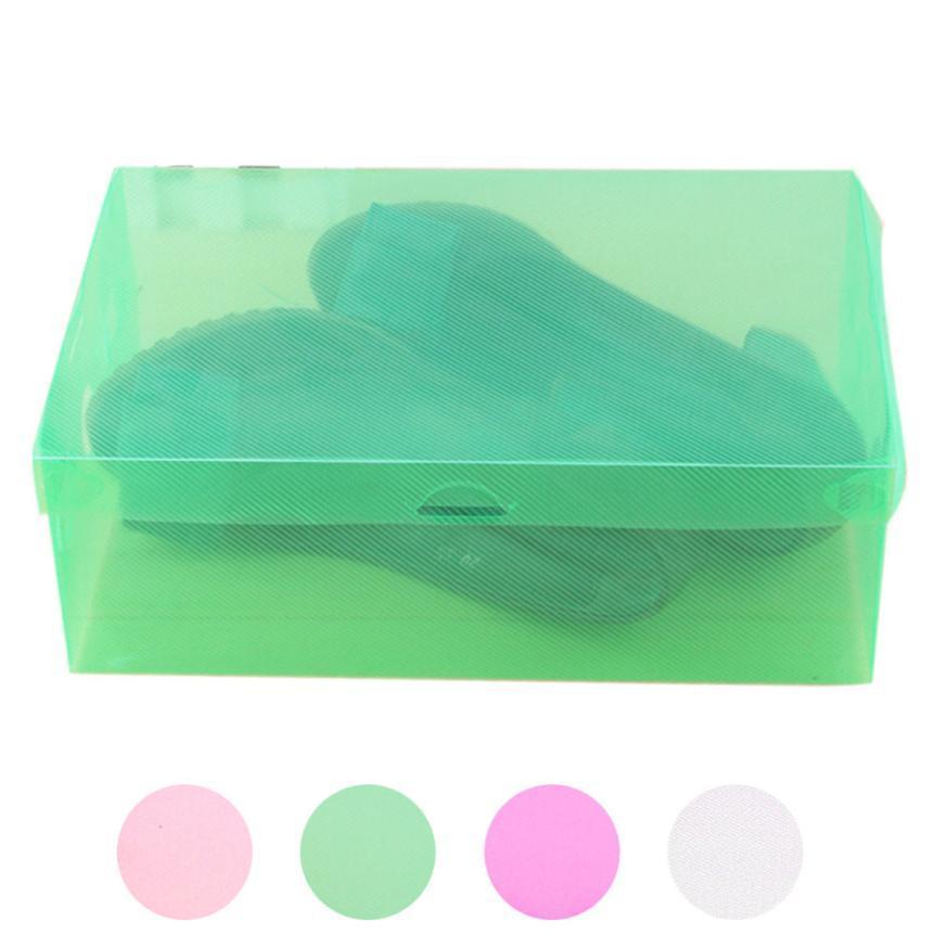 2019 Storage Box Foldable Clear Plastic Shoes Storage Rack Box