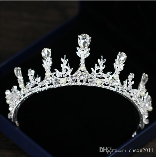 Elegancia: Crystal Crown 2018 nueva corona nupcial Coreana Crystal Crown