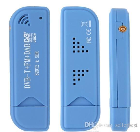 USB 2.0 Digital DVB-T SDR + DAB + FM HDTV Tuner Récepteur Clé Récepteur RTL2832U + R820T2 T2