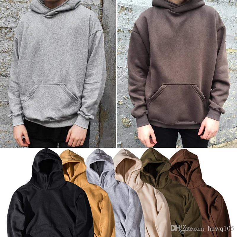 Großhandel Männer Hoodie Sweatshirt Frauen Männer Hip Hop Streetwear  Übergroße Plain Pullover Hoodies Coole Winter Kapuzenpulli Jacke Mantel  Shg1102 Von ... 406d81f6d4